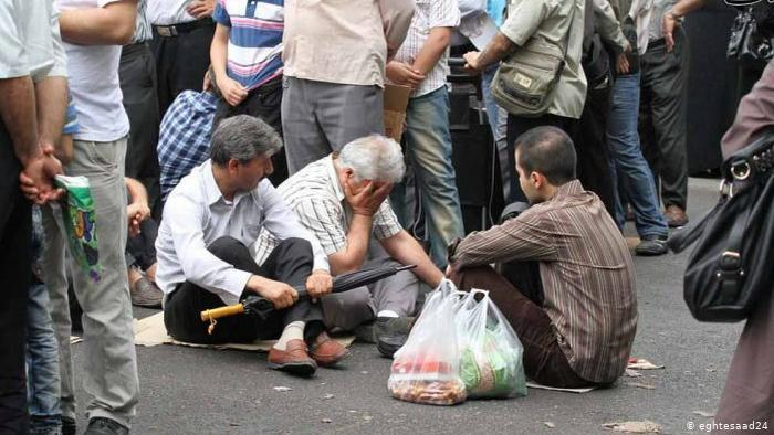 Queuing for food in Iran (photo: eghtesaad24)
