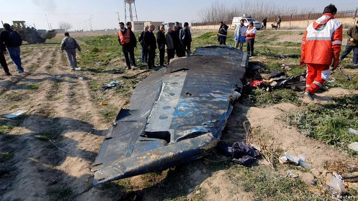 Wreckage of Flight PS752 (photo: Reuters)