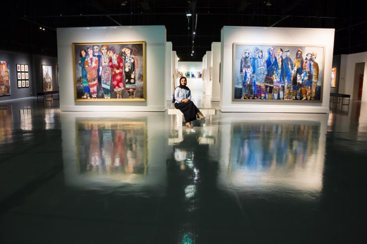Exhibition of Alia Al Farsi's work (photo: Pascal Mannaerts)