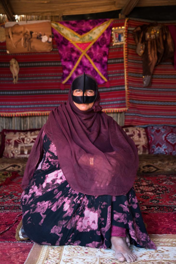 Bedouin woman Salma (photo: Pascal Mannaerts)