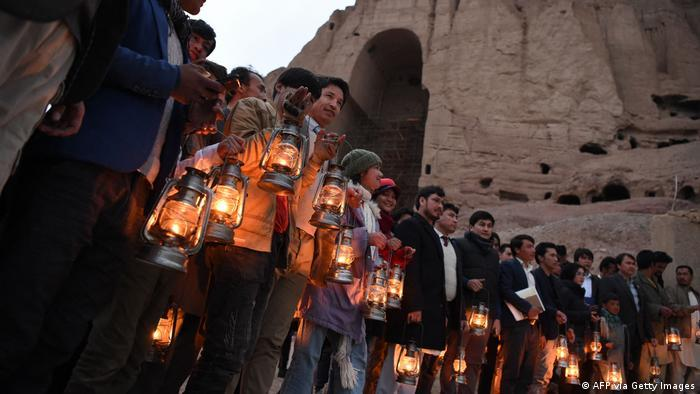 "Afghanistan ceremony | ""A night with Buddha"" in Bamiyan Valley"