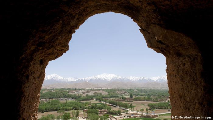Destruction of Buddha statues in Bamiyan | View out from one of the former Buddha alcoves