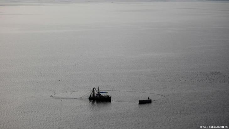 An aerial view shows fishing boats sailing in the Sea of Galilee in northern Israel, March 9, 2021. Picture taken with a drone (photo: REUTERS/Amir Cohen)