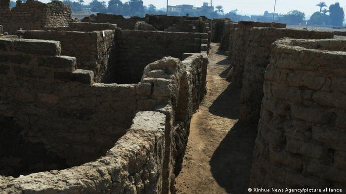 Lost city: remains of walls