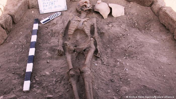 Human skeleton found in the lost city