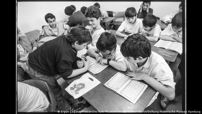 Pupils in an Arabic reading class