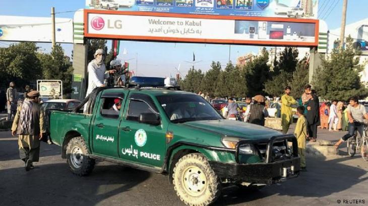 Police car in the hands of the Taliban (photo: Reuters)