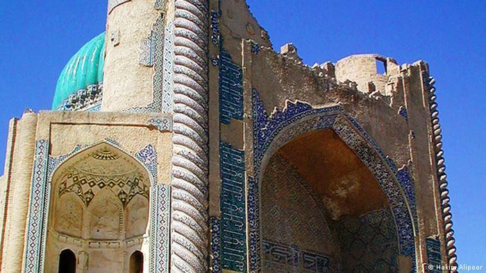 Khawja Abu Nasr Parsa shrine, an ornate building with geometric decoration