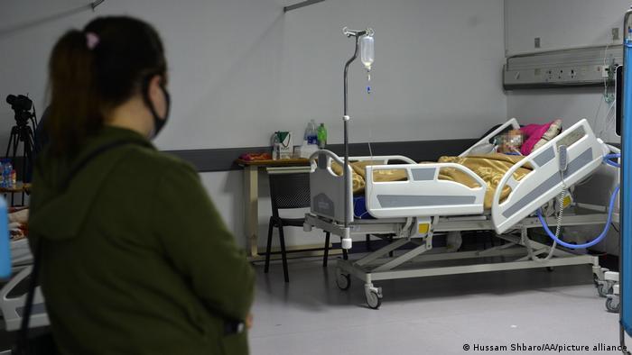 COVID ward in a hospital in Beirut, Lebanon.