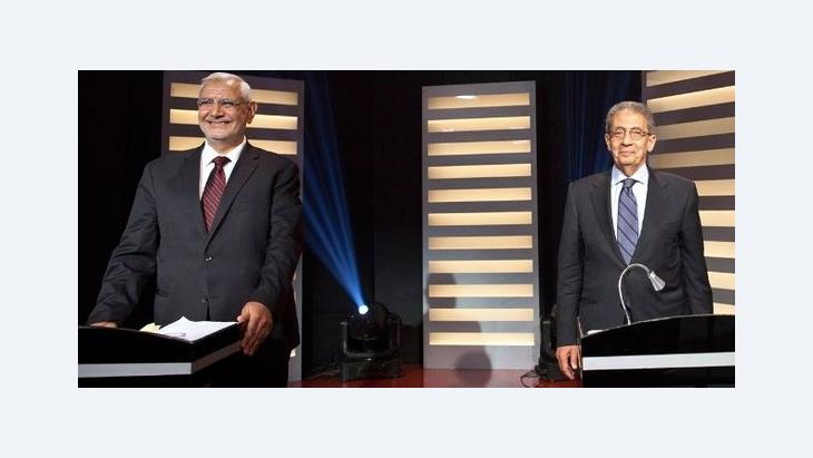 The candidates: Amr Moussa (right) and Abdel Moneim Aboul Fotouh (photo: picture-alliance/dpa)