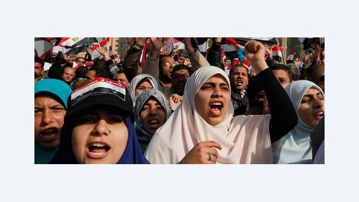Protests in Tahrir Square on the first anniversary of the revolution (photo: Reuters)