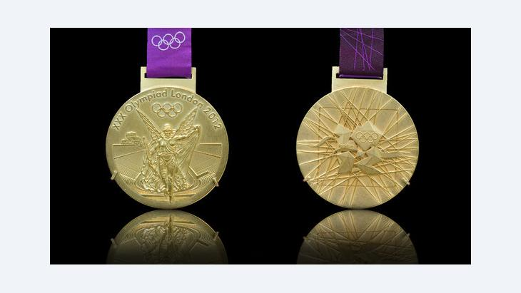 One of the gold medals that will be presented at the Olympic Games 2012 in London (photo: veneratio – Fotolia)
