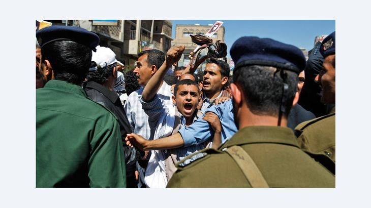 Protests against Yemen's former president Saleh in Sanaa, February 2011 (photo: AP)