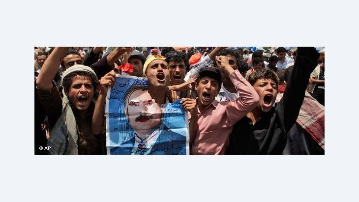 Anti-Saleh rally (photo: AP)