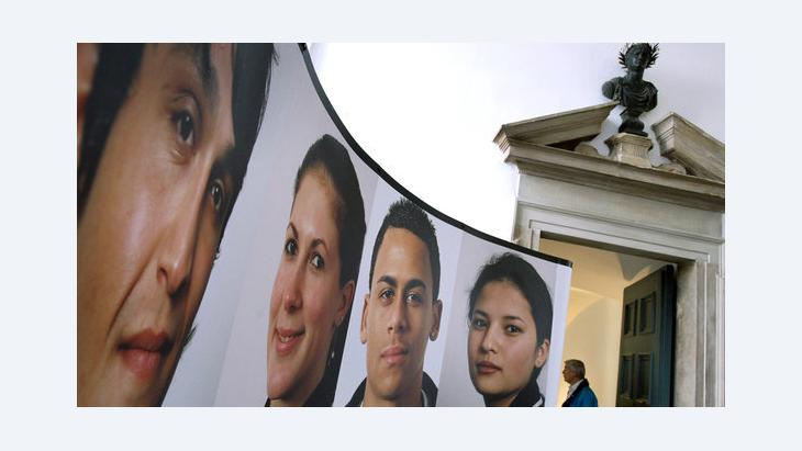 Exhibition on migration in the German city of Augsburg (photo: dpa)