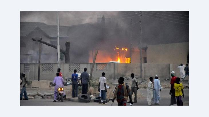 Site of the bomb attack in Kano, Nigeria, on 20 January 2012 (photo: Reuters)