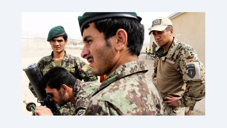Soldiers of the Afghan National Army are being trained by German Armed Forces in Camp Pamir near Kunduz (photo: dpa)