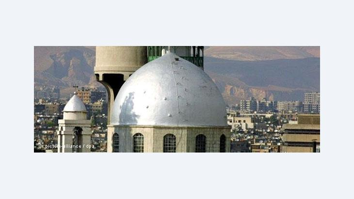 view of the Armenian Orthodox St. Serge church in Damascus (photo: dpa)