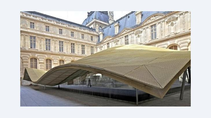Roof over the Visconti Courtyard at the Louvre Museum in Paris, France (photo: courtesy Louvre)