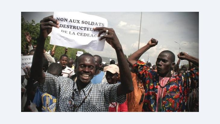 Demonstration in Bamako against a military intervention in northern Mali (photo: dapd)