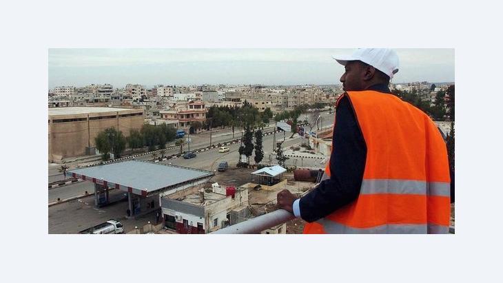 Arab League observer in Daraa, Syria (photo: dpa)