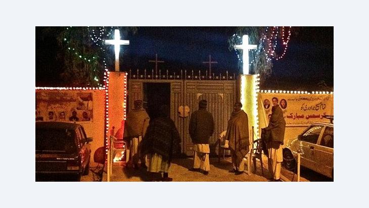 Entrance to the Christia curch in the French Colony district of Islamabad (photo: Nusrath Sheikh)