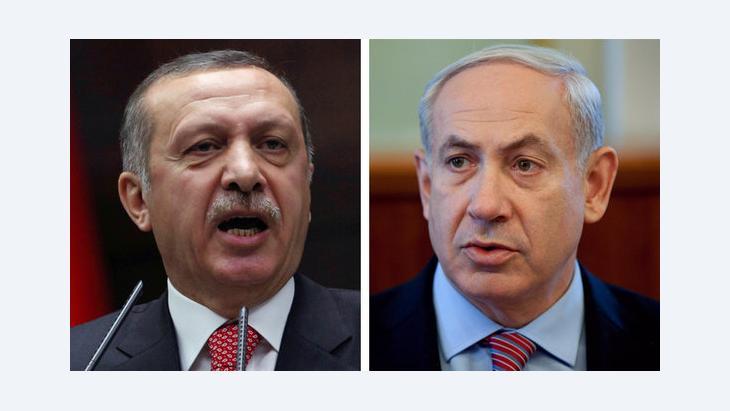 Isreal's Prime Minister Benjamin Netayahu and Turkey's Prime Minister Recep Tayyip Erdogan (photo: AP)(photo: AP)