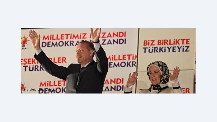 Erdogan with his wife during the election campaign (photo: picture-alliance/dpa)