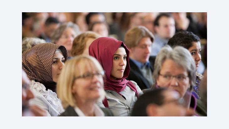 Muslim women attending an event at the University of Münster (Photo: Rolf Vennenbernd/dpa)