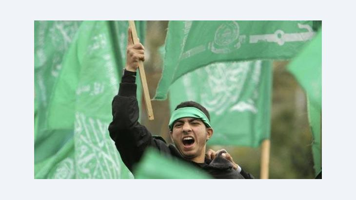 Hamas activist in Gaza City (photo: Reuters)