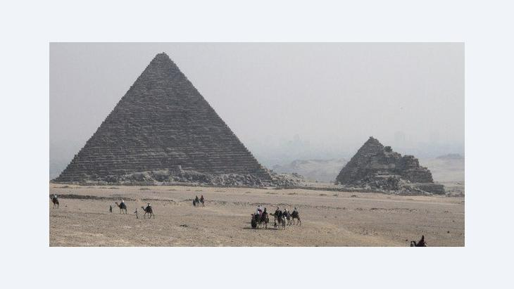 The pyramids in Gizeh (photo: AP)
