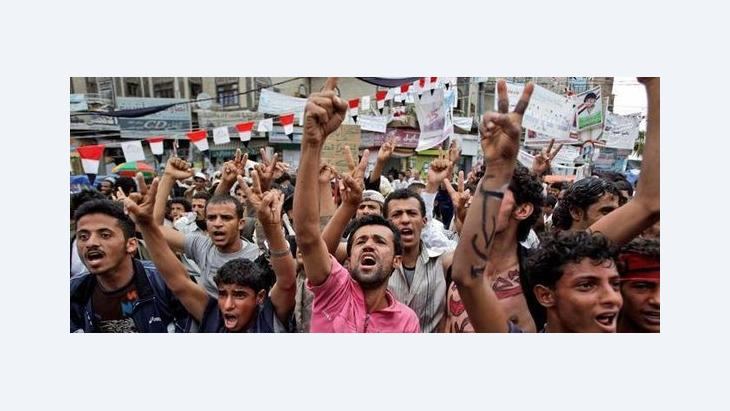 Demonstration against Ali Abdullah Saleh in Sanaa (photo: dapd)