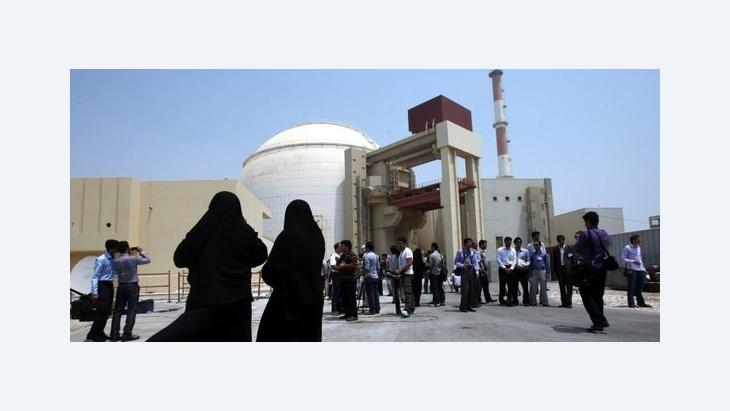 People visiting the Bushehr nuclear power plant (photo: dpa)