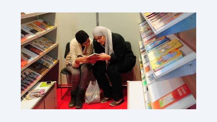 Visitors of the Cairo book fair (photo: Amira El Ahl)