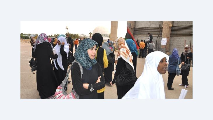 Young women at the University of Benghazi, Libya (photo: DW)