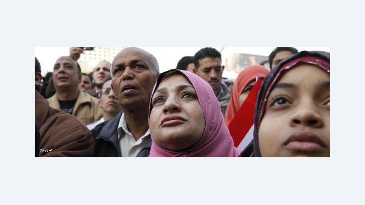 Protestors on Tahrir Square (photo: AP)