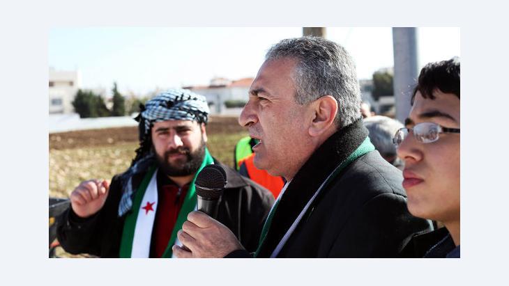 Kamal al-Labwani during an anti-Assad rally in Amman, Jordan (photo: Mohammad Hannon/AP/dapd)