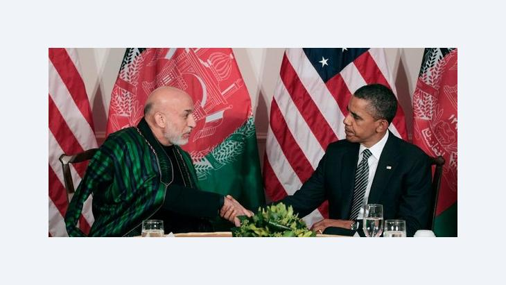 US-President Obama and the President of Afghanistan Karsai (photo: AP/dapd)