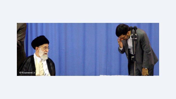 Khamenei and Mahmoud Ahmadinejad (photo: Chamenei.ir/DW)