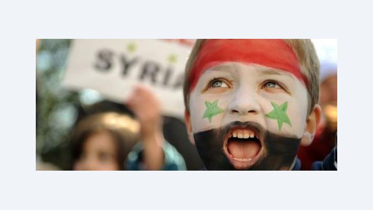 Anti-Assad protests in London (photo: AP)