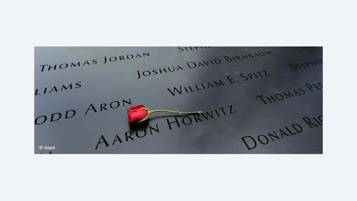 Memorial plaque with the names of the 9/11 victims (photo: dapd)