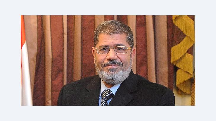 Mohammed Morsi in Cairo, Egypt, 30 January 2012 (photo: picture-alliance/dpa)