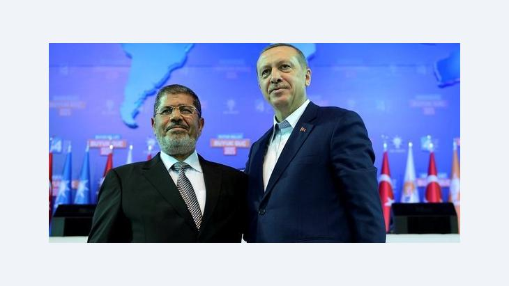 Turkish Prime Minister Recep Tayyip Erdogan (right) and the Egyptian President Mohammed Mursi (photo: Reuters)