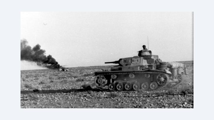 German tank in the desert during Nazi Germany's Africa Campaign (photo: Bundeswehr Archive)