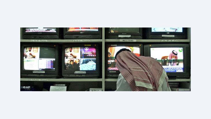 Al-Jazeera editorial room in Doha, Qatar (photo: AP)