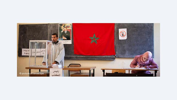 A polling station in Morocco (photo: dpa)