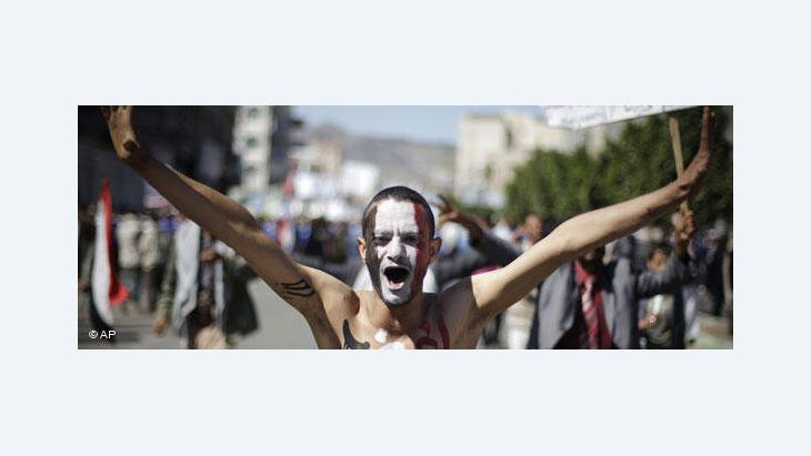 A demonstrator in Yemen (photo: AP)