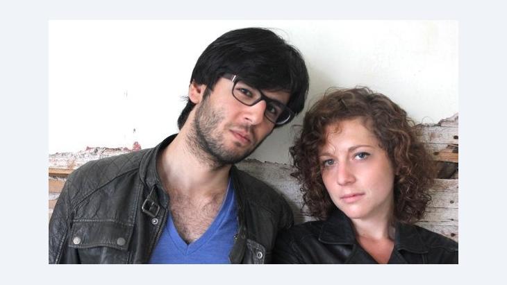Marianne Salzmann and Deniz Utlu (photo: Martina Prießner)