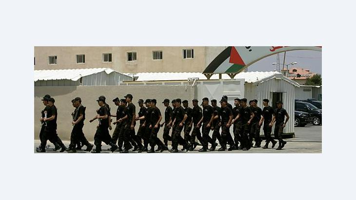 Mahmoud Abbas's Palestinian army (photo: AP)