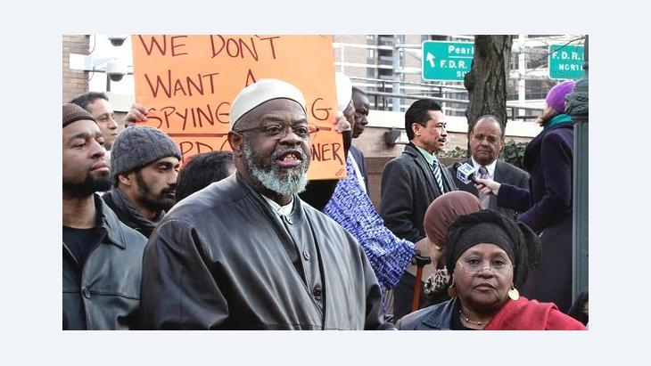 Imam Talib Abdur Rashid at a rally in New York (photo: dapd)